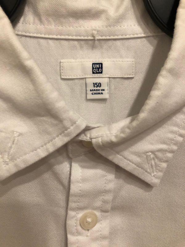f16dd72203f41a Pre-loved Uniqlo White Long Sleeve Shirt, Babies & Kids, Boys ...