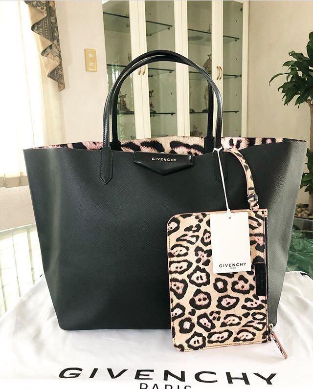 817da87f0c Sale! Givenchy Antigona Shopping Tote Bag with Pouch