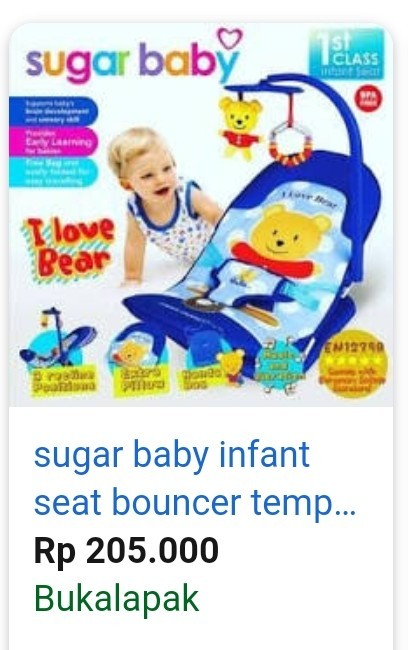 Sugar Baby 1st Class Infant Seat - I Love Bear, Babies & Kids, Strollers, Bouncers & Carriers on Carousell
