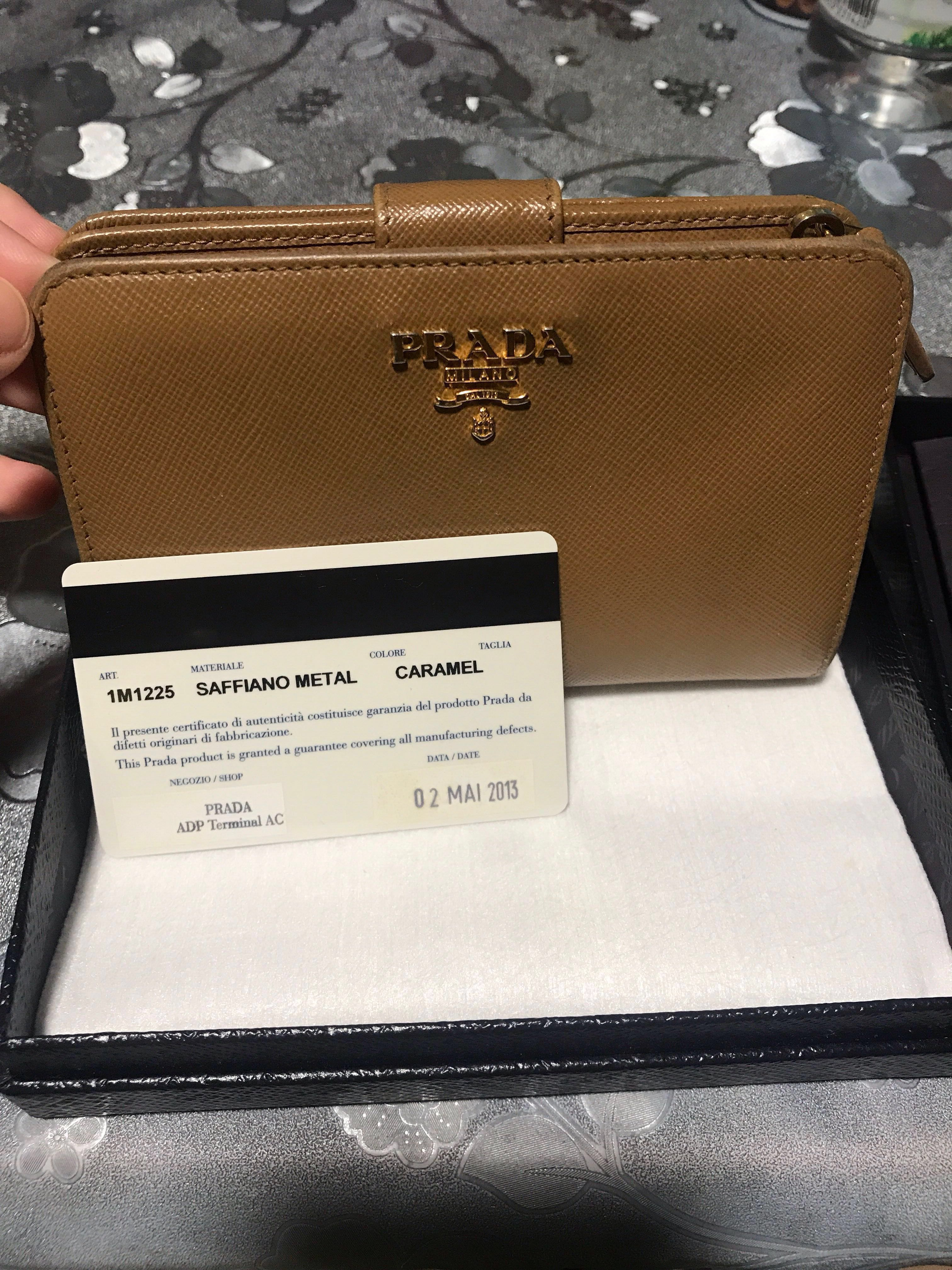 1de654c2fda4 ... wholesale authentic prada saffiano metal wallet in caramel womens  fashion bags wallets wallets on carousell 15e38 ...
