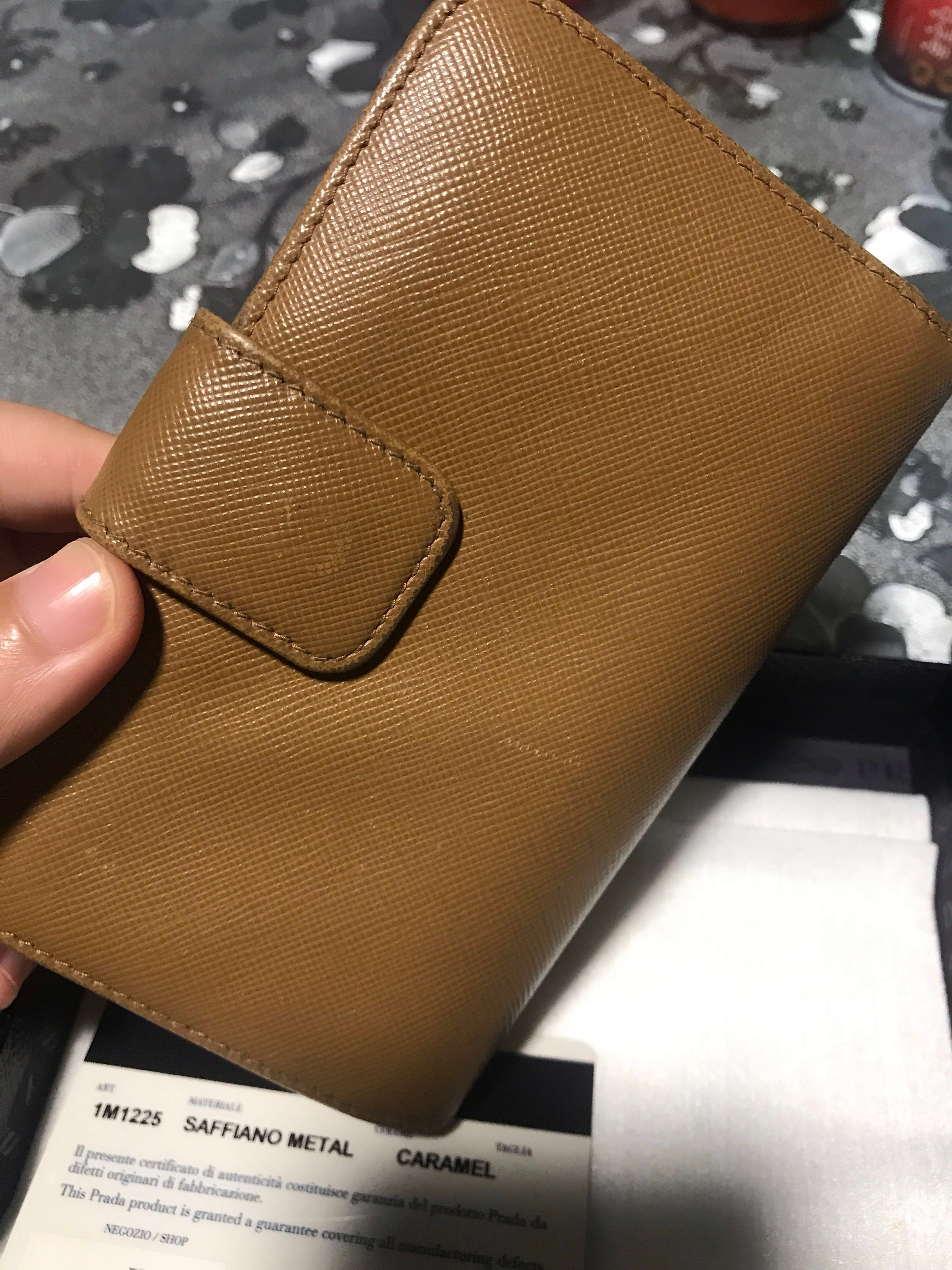 0b67e7818900 Today deal! Authentic Prada Saffiano metal wallet in Caramel, Women's  Fashion, Bags & Wallets, Wallets on Carousell