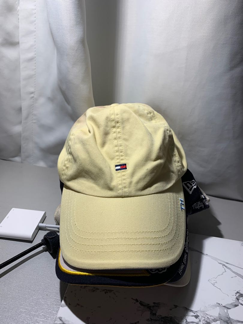 686ccfac6604 Tommy Hilfiger Baby Yellow leather Strapback cap