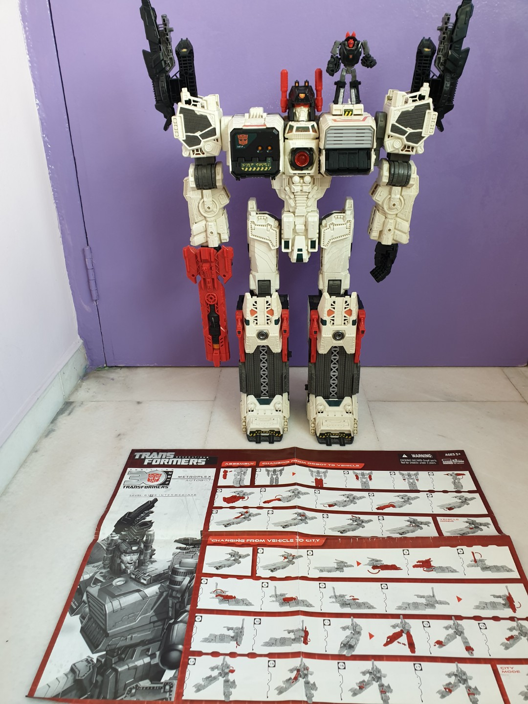 transformers metroplex toys games bricks figurines on carousell
