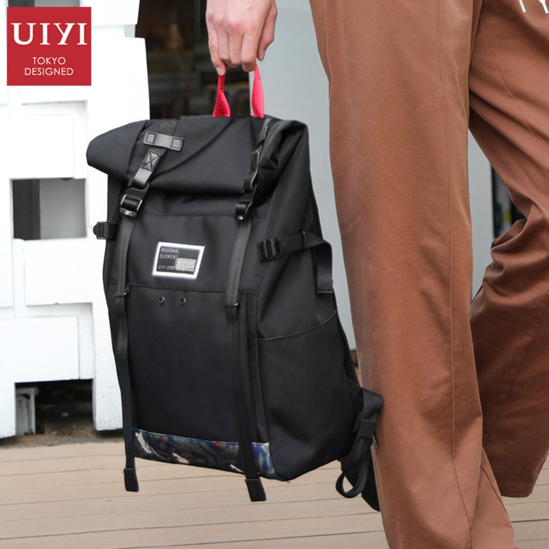 UIYI Fashion Men Vintage Canvas Backpack School Bookbag Laptop Satchel  Travel Bag Rucksack Male shoulder Back bag 170S472901 fab95905058b3