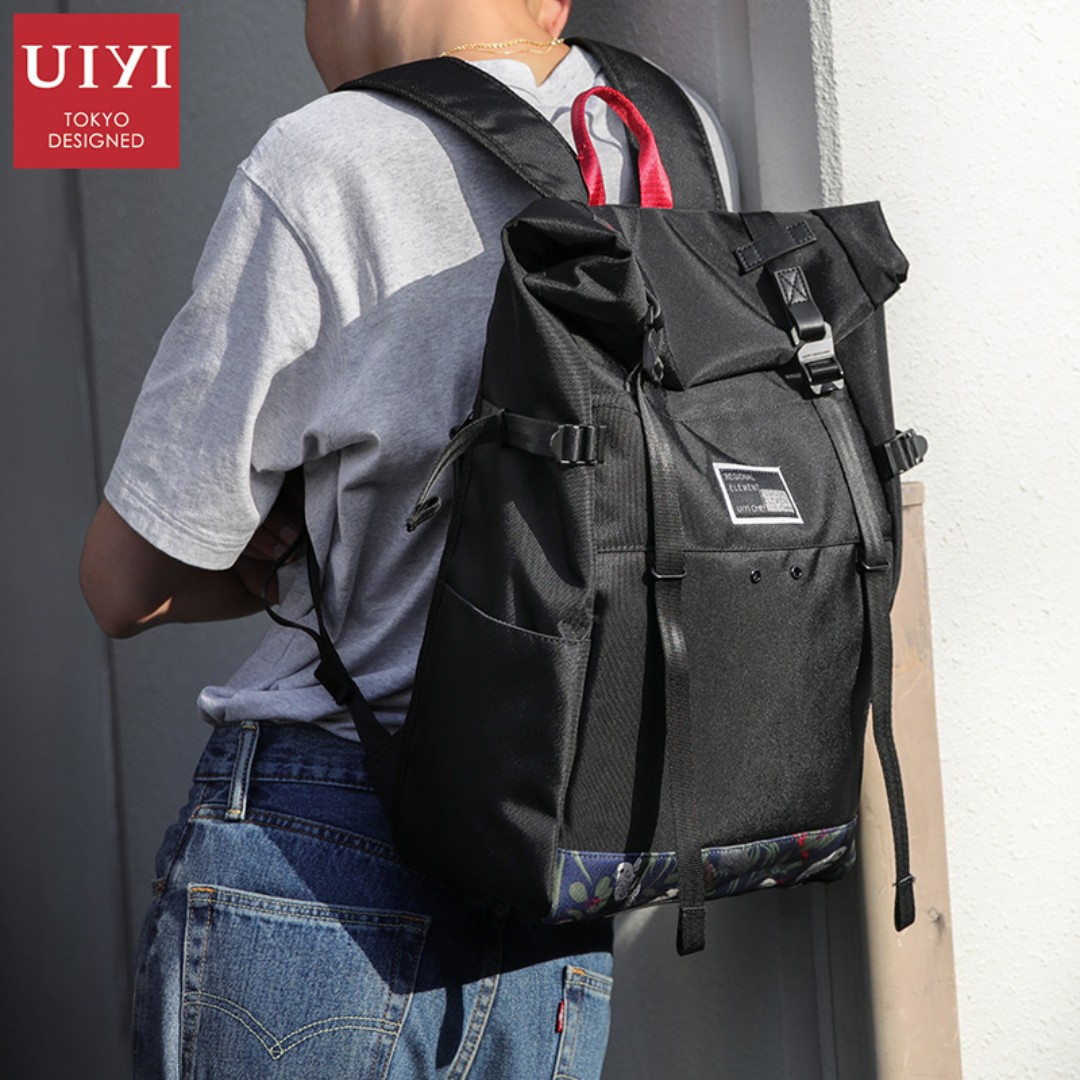 UIYI Fashion Men Vintage Canvas Backpack School Bookbag Laptop ... 83369580bb0bc