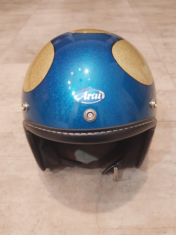 Vintage Hirotake Arai japan Flame helmet metalflake