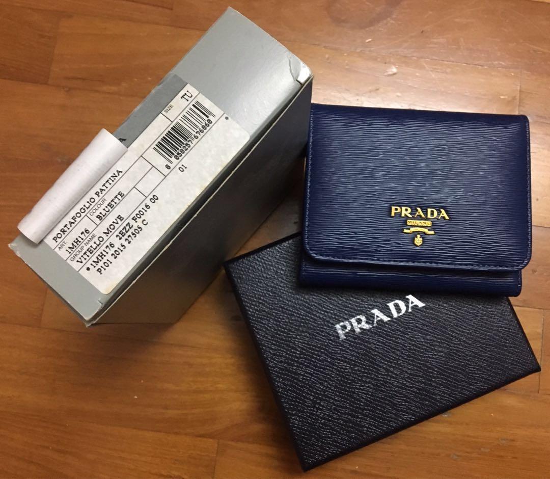 7dda427f86bc04 Vitello Move 1MH176 Bluette Prada Wallet, Luxury, Bags & Wallets ...