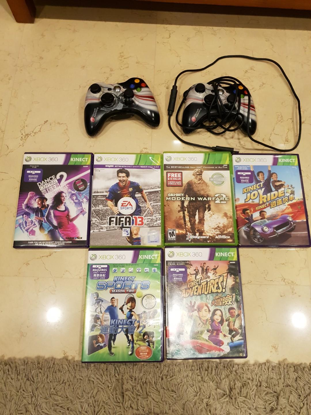 Xbox 360 with Kinect + games, Toys & Games, Video Gaming