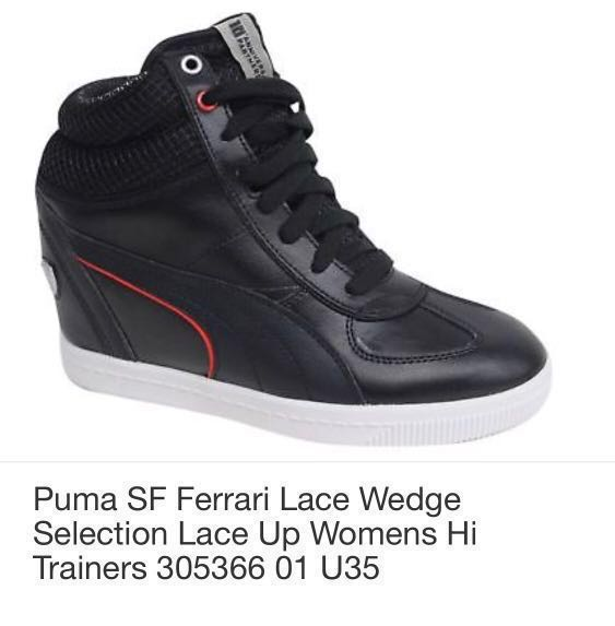 e759adbb5eca XMAS25 Promo!! Original Puma Ferrari Women Wedges Special 10th Year ...
