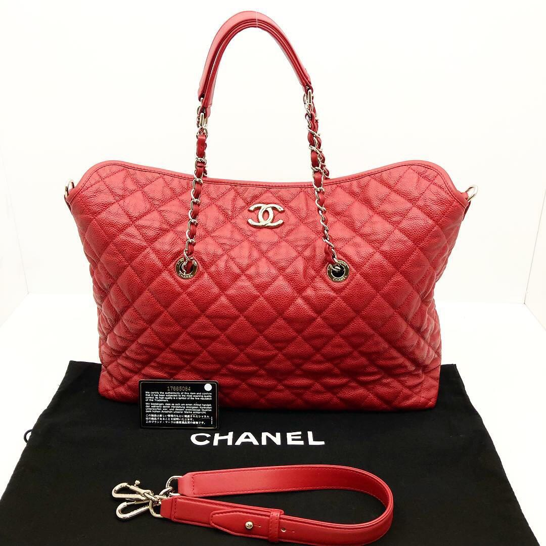 955ff9ab7945 X'MAS SALE) Chanel Caviar Chain 2 Way Tote Bag 187004822, Women's ...