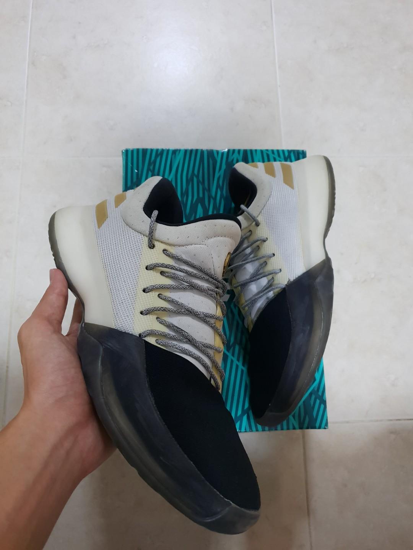 77e003d22bd7 XMAS SALE!  US9 Adidas Harden Vol 1  Disruptor White Black