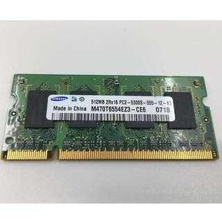 USED Samsung  DDR2-667 512MB Notebook RAM