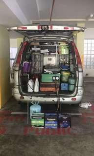 👍 Mobile Car aircon servicing & car battery replacement on site