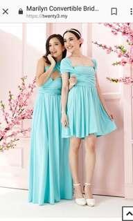 Twenty3 - Marilyn Convertible Bridesmaids Dinner Dress Version III in Tiffany Blue (Long) #DEC30