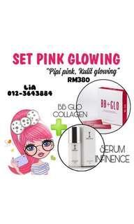 set pipi pink glowing