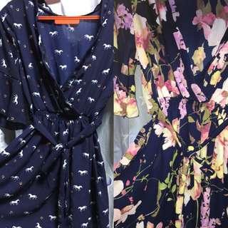 2 pcs kimono set with waist tie