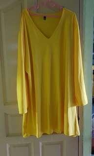 Cheap Yellow Blouse Plus Size
