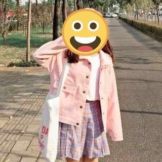 🚚 粉色燈芯絨外套 #十二月女裝半價
