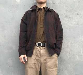 🚚 Woolrich 褐色格紋教練夾克