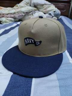 Navy 卡其 藍色 撞色 棒球帽 帽子 帽