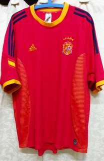 Original Genuine Authentic Spain Football Team Home Jersey of the Year 2002/03' ( Vintage Collection ) by Adidas Made in Portugal