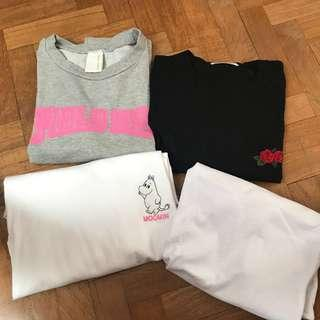 korean ulzzang basic tshirts