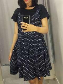 H&M Navy Polka outer dress