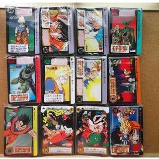 Dragonball carddass hondan normal cards sets(multiple parts)