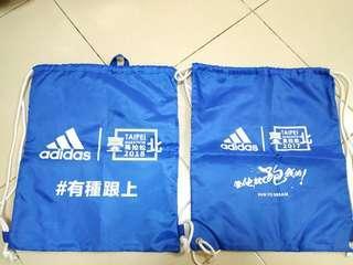 🚚 adidas 臺北馬拉松 束口袋