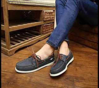 US 5 Navy Blue Boat Shoes