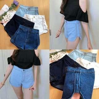 Gbj white Denim Shorts