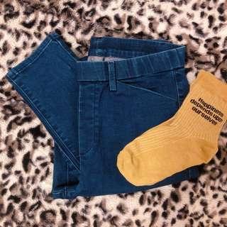 🚚 UNIQLO 吸濕發熱 heattech 牛仔長褲