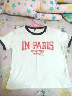 Cotton On Paris Ringer Tee Shirt
