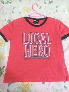 Cotton On Ringer Local Hero Top Tee Shirt