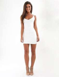 Tigermist Baywatch Backless White Dress