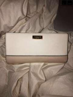 Kate Spade Wallet (white and nude)