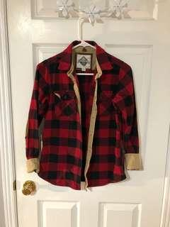 Roots Beaver Canoe Plaid Shirt (S)