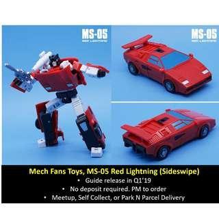 [Preorder] Mech Fans Toys / Mechanic Studios, MS-05 Red Lightning (Sideswipe)