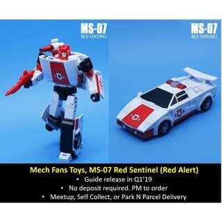 [Preorder] Mech Fans Toys / Mechanic Studios, MS-07 Red Sentinel (Red Alert)