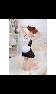 Black Lingerie Temptations Maid with Transparent Sling