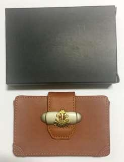Leather name card case with Boys' Brigade logo