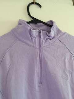 1/4 zip track top - lilac