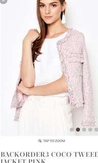 Love n Bravery pink tweet jacket