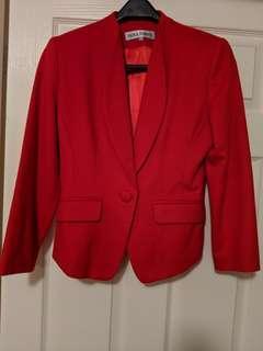 Business formal red blazer