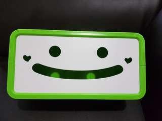 Green Smiley Face Tissue Box