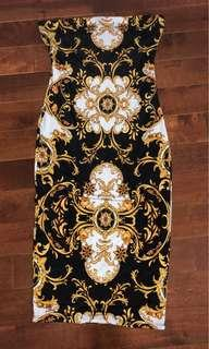 Versace inspired dress from M Boutique