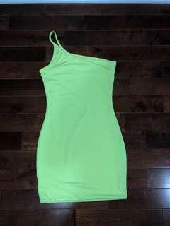 Neon yellow dress from M boutqiue