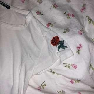 maison rose embroidery top