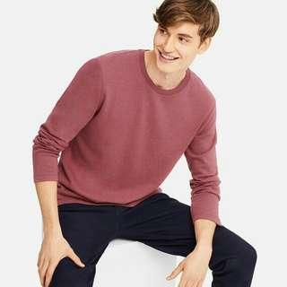 UNIQLO Red Round Neck Sweatshirt Large