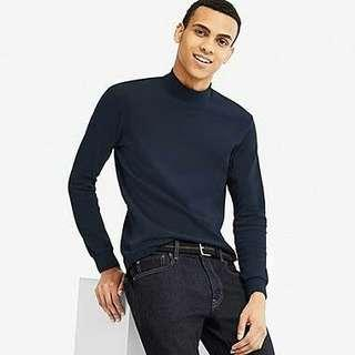 UNIQLO Blue Turtle Neck